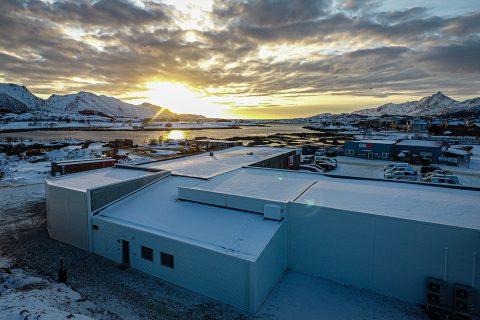 Solnedgang ved Nordvik Eiendom - avd. Leknes