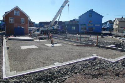 Arbeid med bygging av Kvartal 18